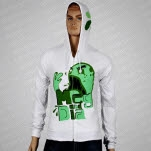 Meg and Dia Monster White Hoodie Zip