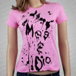 Meg and Dia Splash Pink T-Shirt