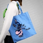 Meg and Dia Bookworm Light Blue Tote Bag