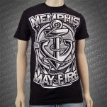Memphis May Fire Anchor Black T-Shirt