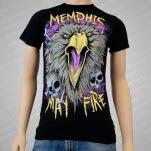 Memphis May Fire Bald Eagle Black T-Shirt