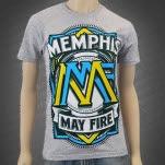 Memphis May Fire Blue Fun Crest Heather T-Shirt
