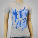 Memphis May Fire Blue Logo Heather Grey T-Shirt