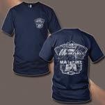 Memphis May Fire Light House Navy T-Shirt