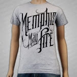 Memphis May Fire Logo Heather Gray T-Shirt