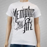 Memphis May Fire Logo White T-Shirt