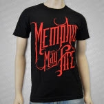 Memphis May Fire Red Logo Black T-Shirt