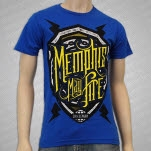 Memphis May Fire Shield Royal Blue T-Shirt