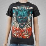 Memphis May Fire Wolf Dreamcatcher Smoke Gray T-Shirt