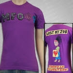 MFO   Music For Occupy Lost Purple T-Shirt