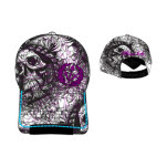 Miami Ink Adj Skull Purple Logo Cap