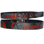 Miami Ink Black Red Printing Belt