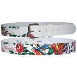 Miami Ink Full Printed White Belt