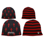 Miami Ink Reversible Red Cross Beanie