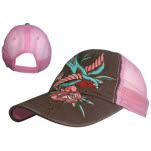 Miami Ink Pink Trucker Bird And Flower Cap