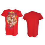 Miami Ink Red T Shirt Oldskool T-Shirt