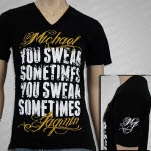 Michael Jagmin You Swear Sometimes Black T-Shirt