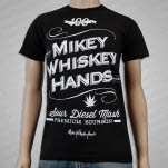 MikeyWhiskeyHands Bourbon Black T-Shirt
