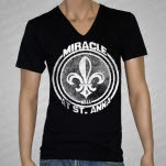 Miracle At St Anna NOLA V Neck Black T-Shirt