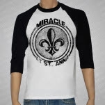 Miracle At St Anna NOLA BlackWhite Baseball T-Shirt