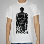 Misery Signals Target Black On White T-Shirt