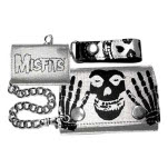 Misfits Printed Cracked Leather Wallet