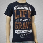 official Miss May I Life to the Grave Navy T-Shirt