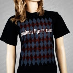 Modern Life Is War Mordern Life Is War Argyle Design B T-Shirt