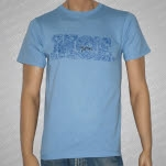 moe Blue Cartoon Blue T-Shirt