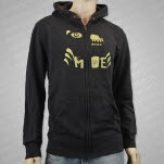 moe Bear Dark Heather Hoodie Zip