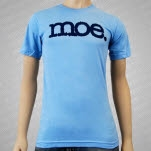moe Blue Logo on Light Blue T-Shirt