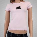 moe Buster Pink Girls T-Shirt