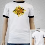 moe Head Seed White Ringer T-Shirt