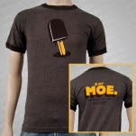 moe Ice Cream Brown Ringer T-Shirt