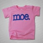 moe Logo Toddler Pink T-Shirt