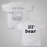 moe Moe Down Lil Bear White T-Shirt