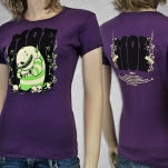 moe Monster And Skull Purple Girls T-Shirt