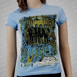 moe New Years Eve 2010 Light Blue Girls T-Shirt