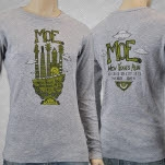 moe New Year Run 2013 Grey Long Sleeve Shirt