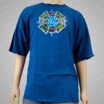 moe Phycodelic Logo Batik Blue T-Shirt