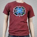 moe Phycodelic Logo Batik Maroon T-Shirt