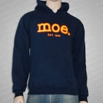 moe Stitch Logo Blue Pullover