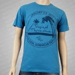 moe Tropical Throe Down Blue T-Shirt
