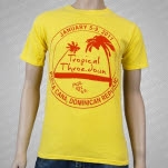 moe Tropical Throe Down Yellow T-Shirt