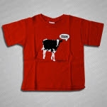 moe Woody Jackson Kids RED T-Shirt
