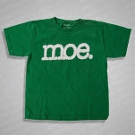 moe White Logo On Grass Green T-Shirt
