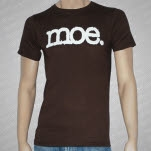 moe White Logo on Brown Brown T-Shirt