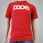 moe White Logo on Red T-Shirt
