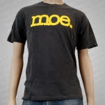 moe Yellow Logo on Charcoal Gray T-Shirt