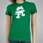 Monstercat Anniversary Logo Green Girls T-Shirt